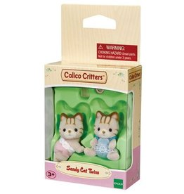 Calico Critters Calico Critters Sandy Cat Twins With a Bottle