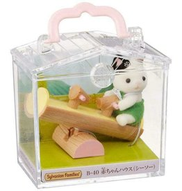 Calico Critters Calico Critters Mini Carry Cases - Cat On a Wooden Seesaw