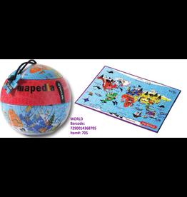 Purple Cow Mapedia Jigsaw Puzzle - World