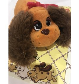 Schylling Toys Pound Puppies Clip On's - Brown