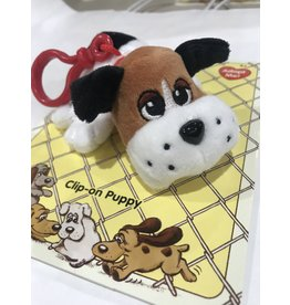 Schylling Toys Pound Puppies Clip On's - White with Black & Brown Spots