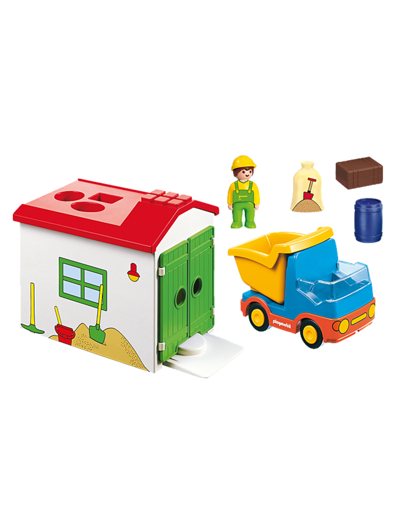Playmobil Playmobil Construction Truck With Garage Pow Science Llc