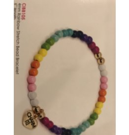 CHARM IT! Charm It! Rainbow strech bead bracelet 4mm.