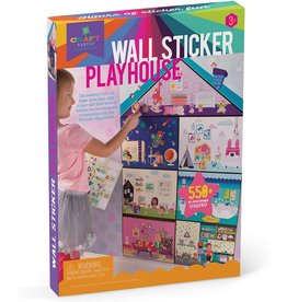 Ann Williams Group Craft-tastic Jr - Wall Sticker Playhouse - 3-Foot Tall Dreamhouse with Over 550 Reusable & Repositionable Stickers