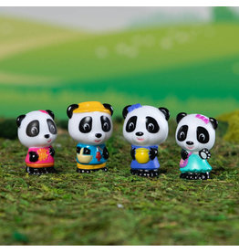Fat Brain Toys Timber Tots Panda Family set of 4