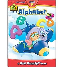 School Zone Super Deluxe Workbook-Preschool Alphabet - Ages 4-6