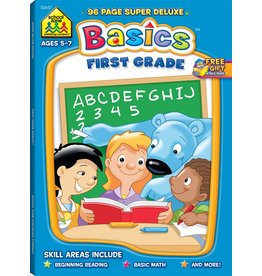 School Zone Super Deluxe Workbook-First Grade Basics - Ages 6-7
