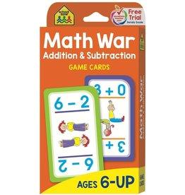 School Zone Game Cards-Math War: Addition & Subtraction 56/Pkg