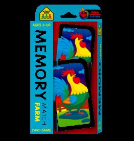 School Zone School Zone Memory match farm flash card