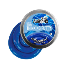 Crazy Aaron Putty Crazy Aaron's Thinking Putty - Chrome - Cool Cobalt Mini