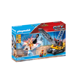 Playmobil Playmobil Cable Excavator with Building Section