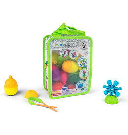 Juratoys Baby Zippered Lalaboom Bag of Beads and Accessories (28 Pieces)