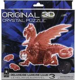 University Games 3D Crystal Puzzle Dragon (Red)