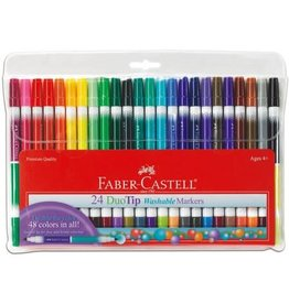 Faber-Castell Art Supplies 24 Count DuoTip Washable Markers