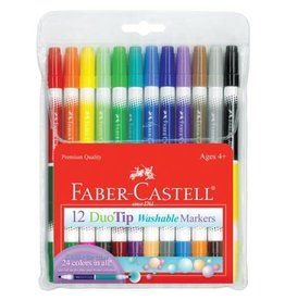Faber-Castell Art Supplies 12ct DuoTip Washable Markers
