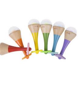 Classic World Musical Wooden Rainbow Maracas - Assorted Colors