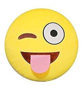 Kids Preferred Winky Face Plush Emoji Pillow