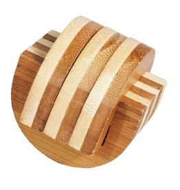 Fridolin IQ Test Bamboo Puzzle - Clamps