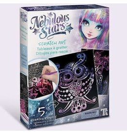 Family Games America Craft Kit Nebulous Stars Scratch Art
