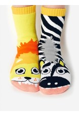 Geyser Guys Pals Socks - 4-8 Years - Lion & Zebra