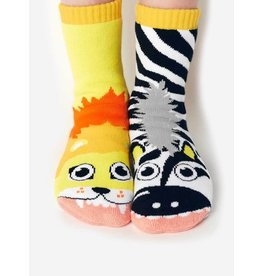 Geyser Guys Pals Socks - 4-8 Years - Lion & Zebra
