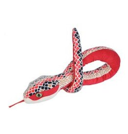 Wild Republic Red Scales Plush Snake 54""