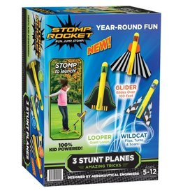 D&L Company LLC Outdoor Stomp Rocket - 3 Stunt Planes
