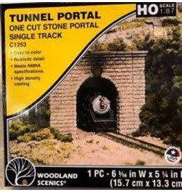 Hobbies Unlimited HO Single Tunnel Portal, Cut Stone