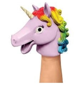 Schylling Toys Plastic Stretchy Unicorn Hand Puppet