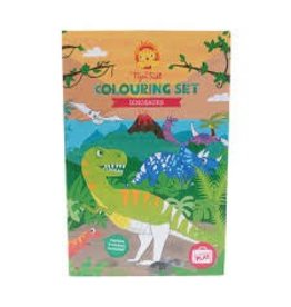 Schylling Toys Tiger Tribe Dinosaur - Coloring Set