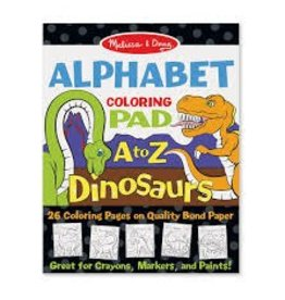 Melissa & Doug Alphabet Coloring Pad - A to Z Dinosaurs