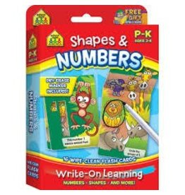 School Zone Flash Cards - Shapes & Numbers Interactive