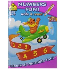School Zone Workbook - Write & Reuse - Math Fun