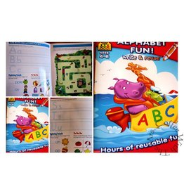 School Zone Workbook - Write & Reuse - Alphabet Fun
