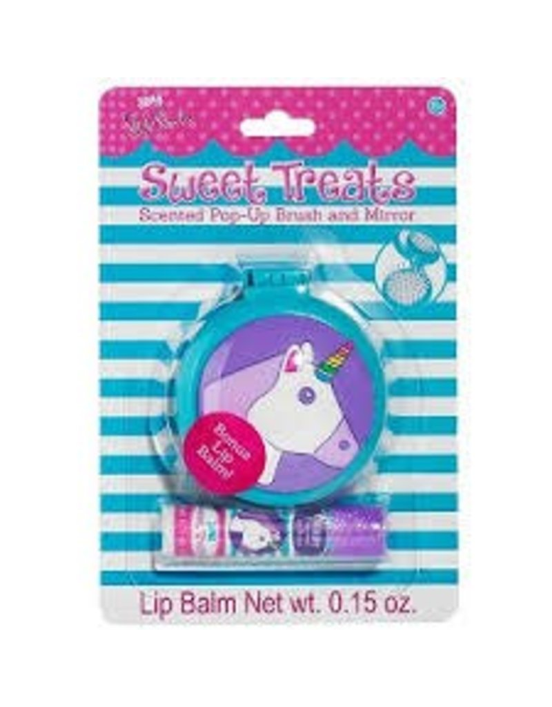 3 Cheers for Girls 3C4G Sweet Treats Scented Pop-Up Brush and Mirror - Unicorn