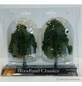 """Woodland Scenics Woodland Classic Trees(R) Ready Made - Cool Shade -- 5 to 6""""  12.7 to 15.2cm Tall pkg(2)"""