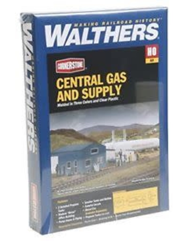 Walthers Hobby Building Walthers Cornerstone HO Scale - Central Gas & Supply