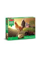 Melissa & Doug Puzzle - Sunrise Farm Cardboard (100 Piece)