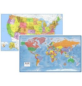 Round world Puzzle - World & United States Map