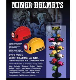 Squire Boone Village Miner Helmet, Yellow W/Red Ring