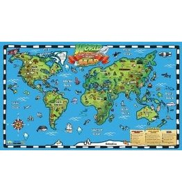 Round world Wall Chart - Wonders and Landmarks of the World Interactive Map