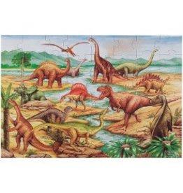Melissa & Doug Floor Puzzle - Dinosaurs  - 48 Piece