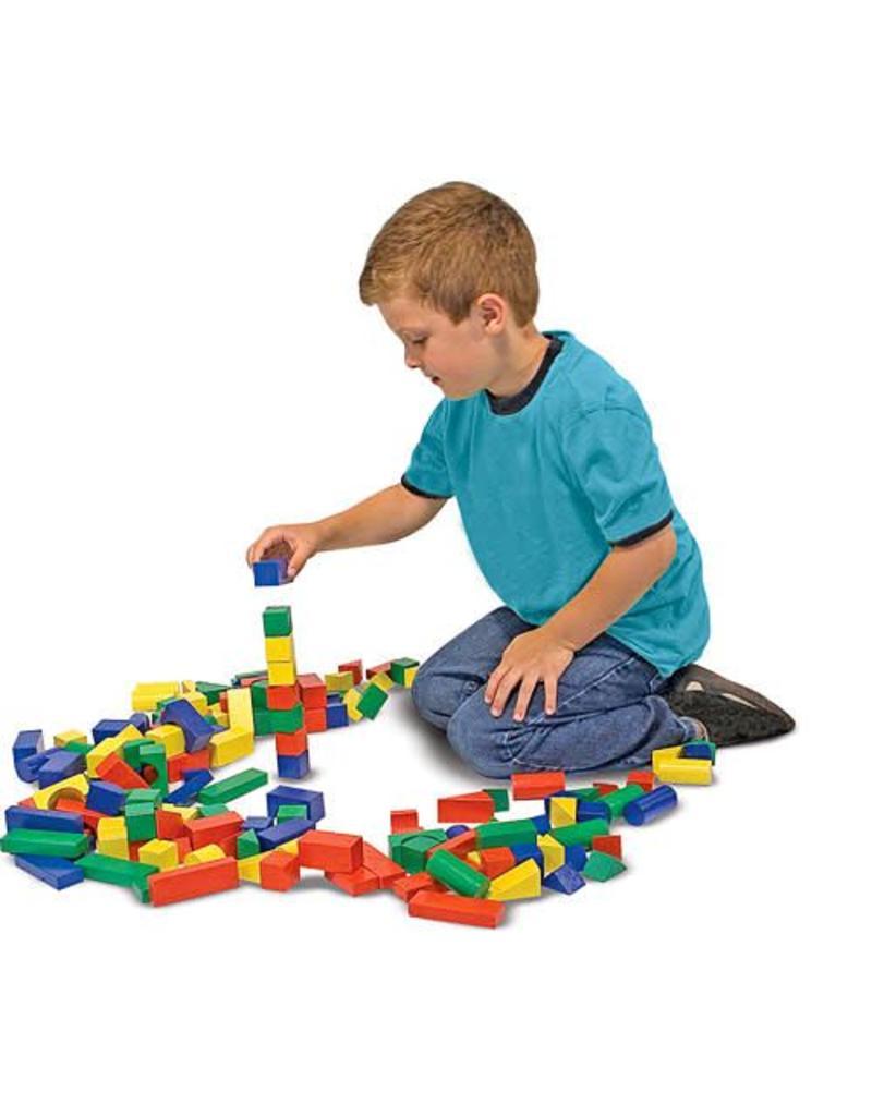 Melissa & Doug Wooden Block Set (100 Piece)