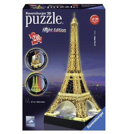 Ravensburger Ravensburger 3D Puzzle - Eiffel Tower Night - 216 Piece