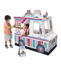 Melissa & Doug Cardboard Structure Play Pretend Food Truck