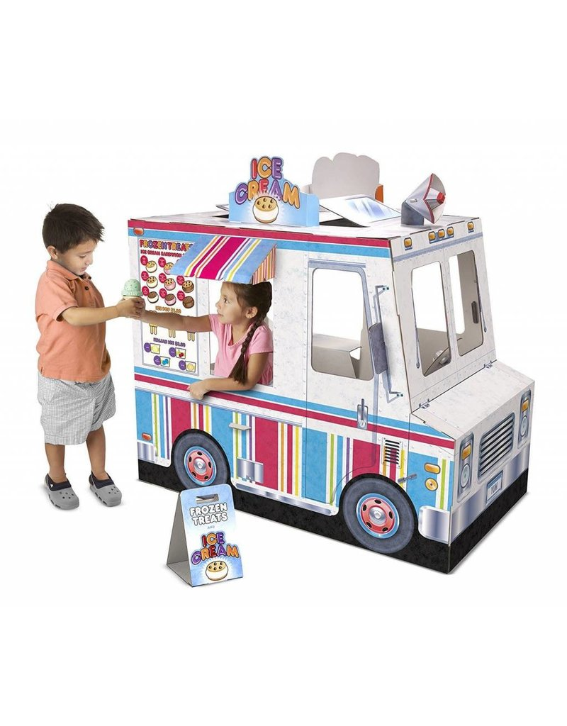 Melissa & Doug Cardboard Structure Play Pretend Food Truck