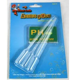 C & A Scientific Acidic pHun pH Paper and Pipets