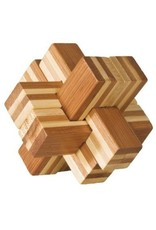Fridolin IQ Test Bamboo Puzzle - Block Cross #1