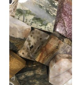 Squire Boone Village Rock/Mineral - Sea Jasper Slab, Polished Face