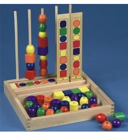 Melissa & Doug Wooden Bead Sequencing Set